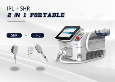 China Portable 2 In 1 Multi Function Laser 2 Handpiece E - Light/ IPL/ SHR/ OPT /RF Machine supplier