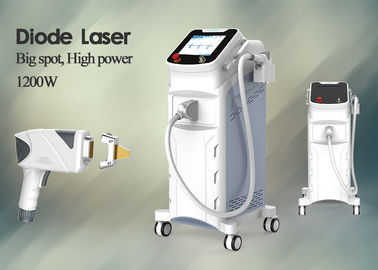 Full Body Diode Laser Hair Removal Machine 1200W High Power 10 * 15mm 15 * 30mm Spot Size