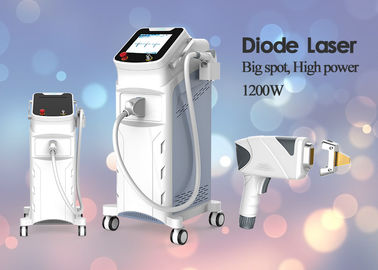 1200W Painless 755nm 808nm 1064nm Diode Laser Hair Removal Machine 30 - 300ms Pulse Duration